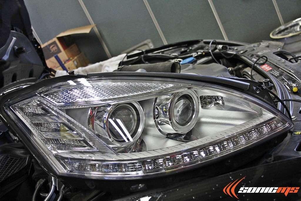 w221 s-class headlamp retrofit