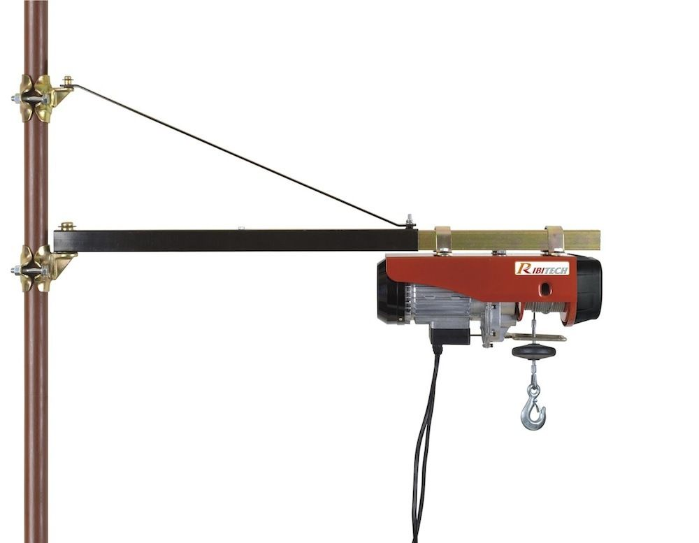 potence pivotante 120cm 200kg palan treuil electrique pp120 ebay. Black Bedroom Furniture Sets. Home Design Ideas
